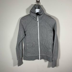 [Lululemon] Grey Zip Up Sweater sz 6